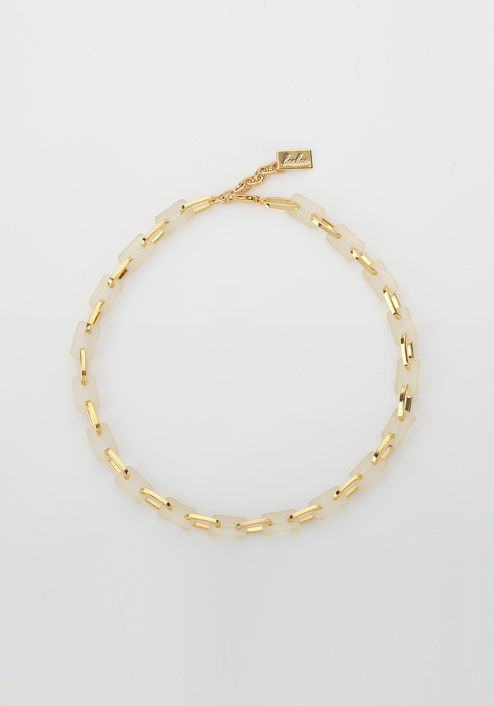 Acrylic Chain Necklace (ivory)