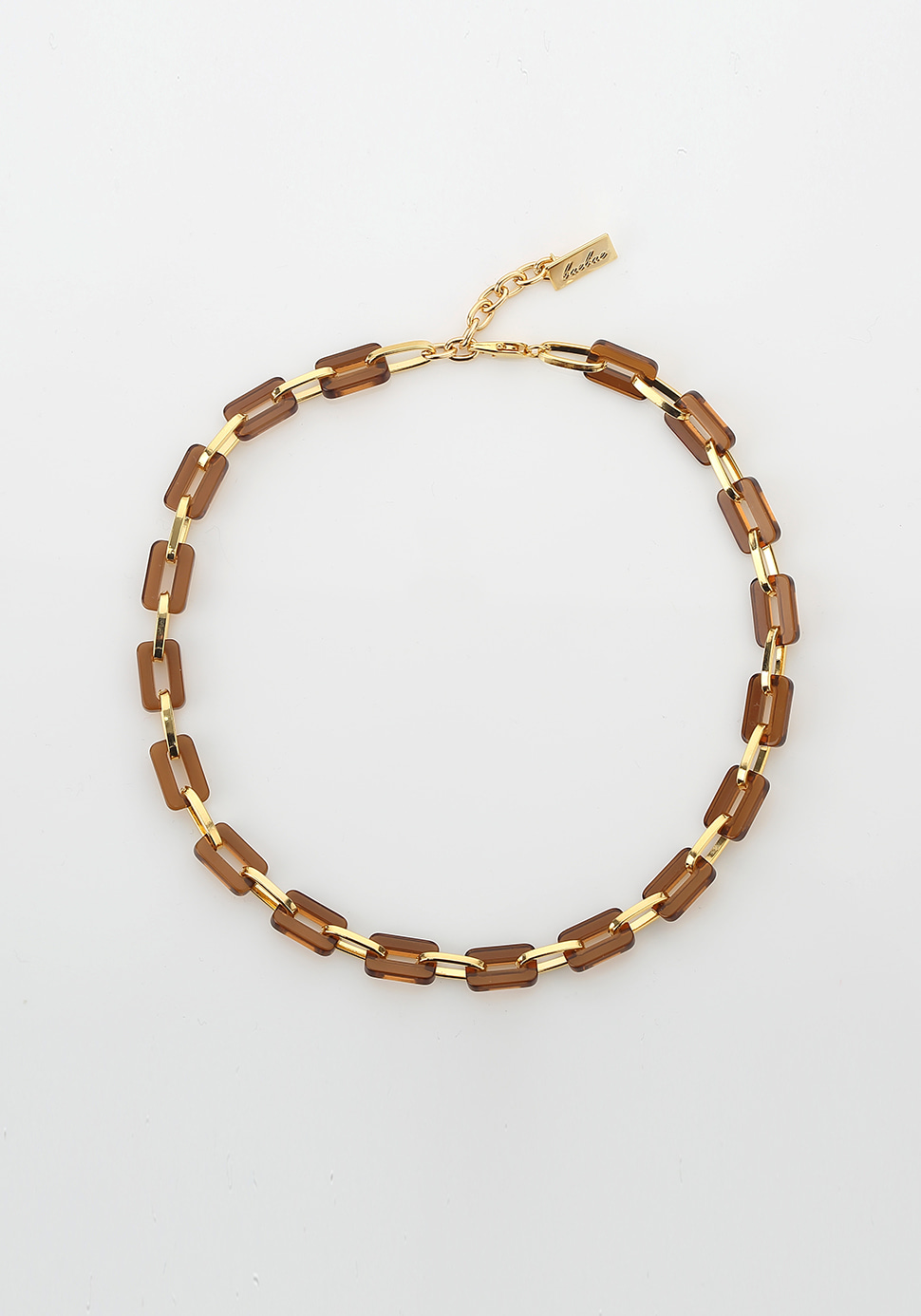 Acrylic Chain Necklace (brown)